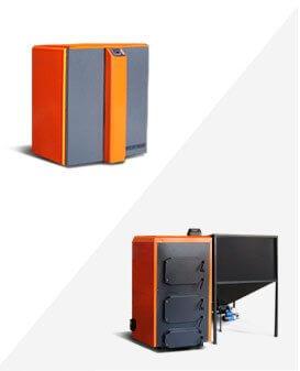 Пеллетные котелы с автоматической подачей Koteko Geyzer 25-600кВт